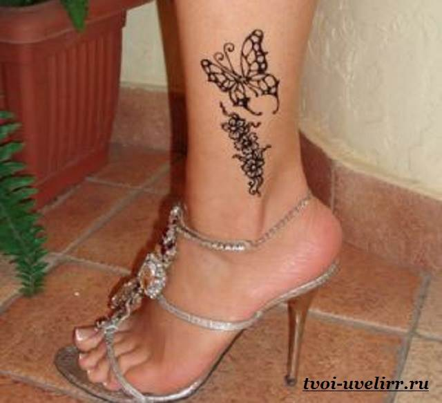 Фото тату для женщин на ноге