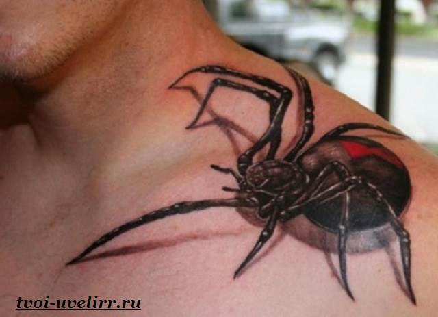 Значения тату паук на руке