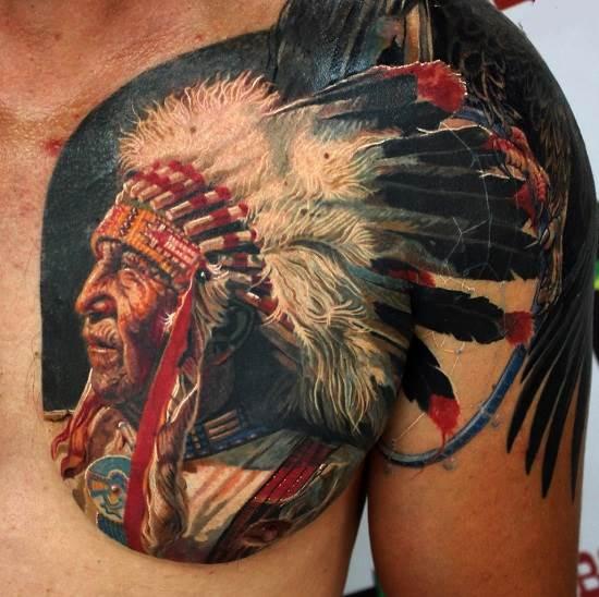 Перо индейцев тату