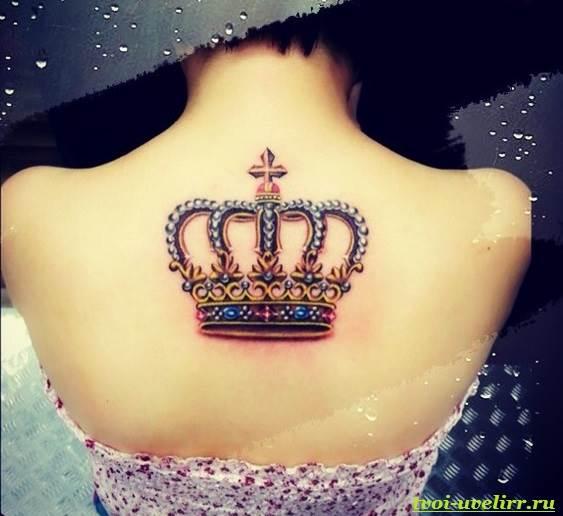 Royal queen crown tattoo