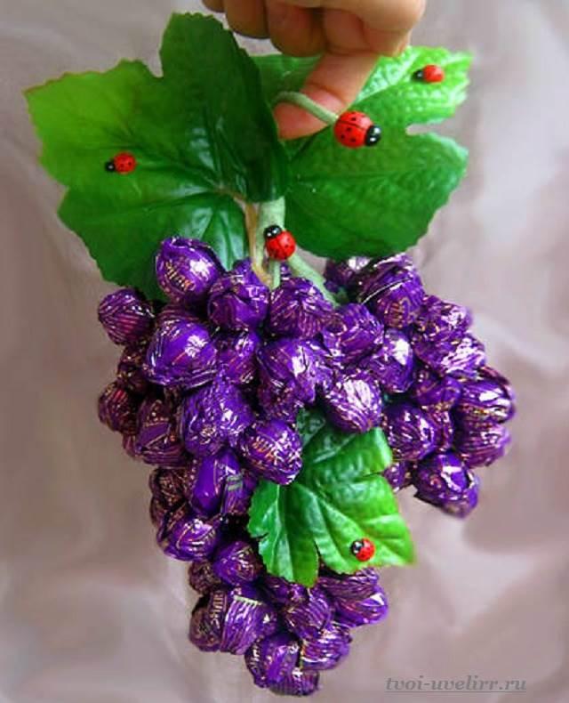 Букет из конфет своими руками мастер класс фиолетовый