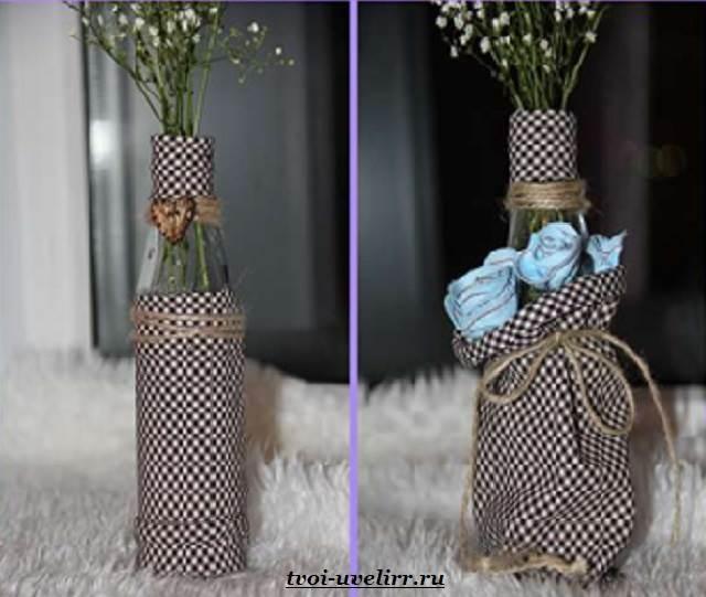 Как можно сделать из стеклянной бутылки вазу