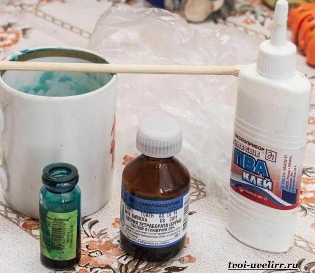Как сделать лизуна в домашних условиях с помощью клея пва