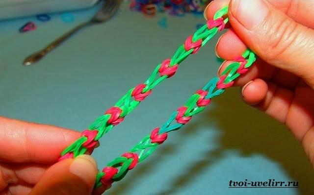 Лёгкие плетения из резинок без станка