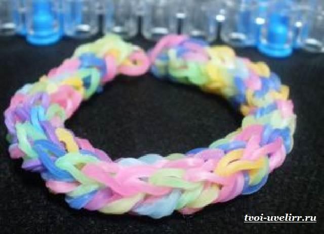 Красивое плетение резиночками