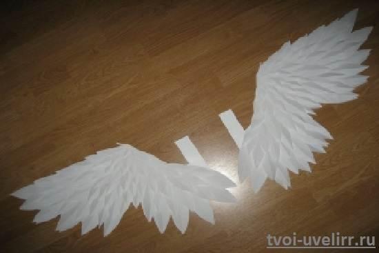Крылья птицы из бумаги своими руками