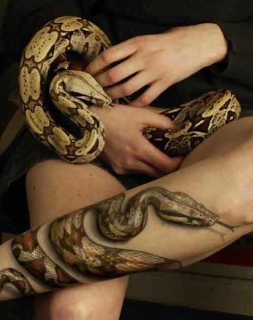 Змея браслет татуировка