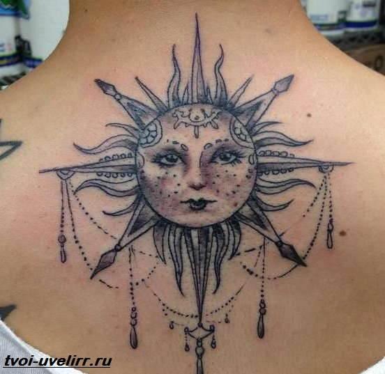 Тату-Солнце-Значение-тату-Солнце-Эскизы-и-фото-тату-Солнце-1