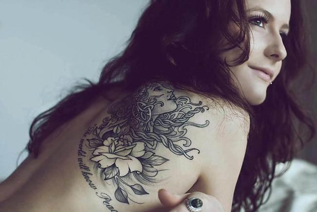 Черно-белые-тату-Значение-чёрно-белых-тату-Эскизы-и-фото-черно-белых-тату-12