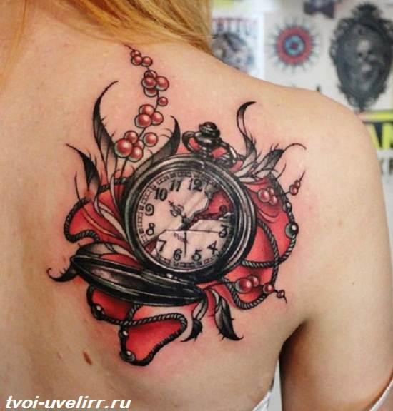 Тату-часы-Значение-тату-часы-Эскизы-и-фото-тату-часы-1