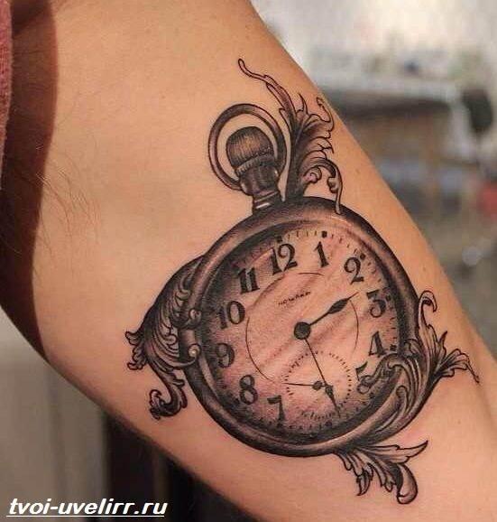 Тату-часы-Значение-тату-часы-Эскизы-и-фото-тату-часы-3