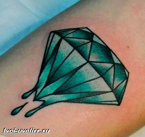 Тату-алмаз-Значение-тату-алмаз-Эскизы-и-фото-тату-алмаз-1