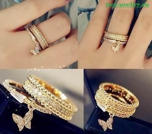 кольцо с подвеской фото