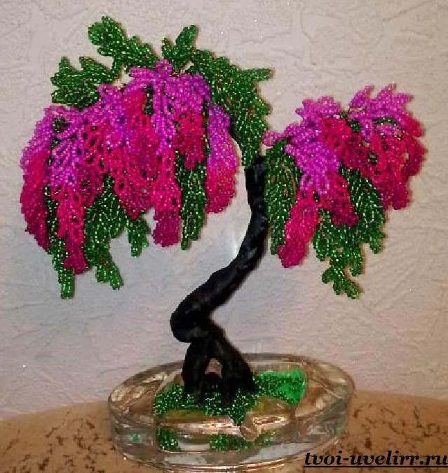 Дерево из цветов мастер класс с пошаговым 1