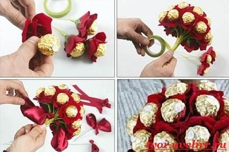 Букеты-из-конфет-своими-руками-Фото-и-видео-как-сделать-букет-из-конфет-1