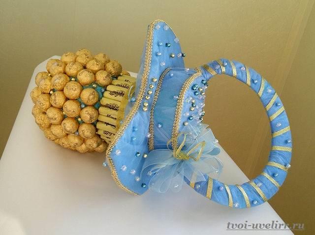 Букеты-из-конфет-своими-руками-Фото-и-видео-как-сделать-букет-из-конфет-11