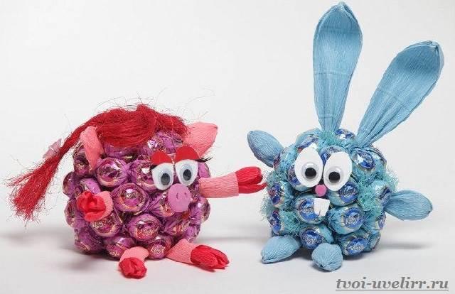 Букеты-из-конфет-своими-руками-Фото-и-видео-как-сделать-букет-из-конфет-13