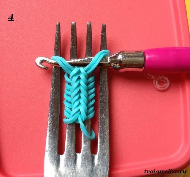 Как сделать браслет из резинок колосок фото 702