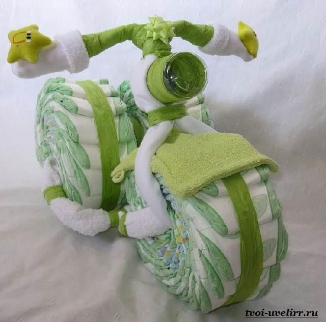 Коляска из памперсов для мальчика своими руками пошагово фото фото 239