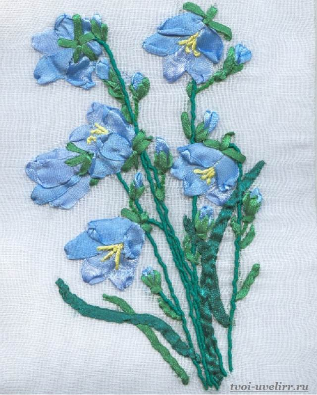 Цветы-из-лент-Как-сделать-цветы-из-лент-своими-руками-12