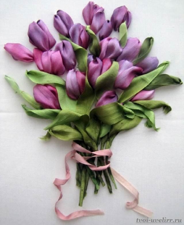 Цветы-из-лент-Как-сделать-цветы-из-лент-своими-руками-5