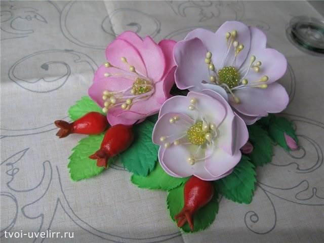 Что-такое-фоамиран-Цветы-из-фоамирана-6