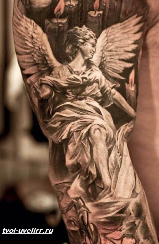 Тату-ангел-Значение-тату-ангел-Эскизы-и-фото-тату-ангел-3