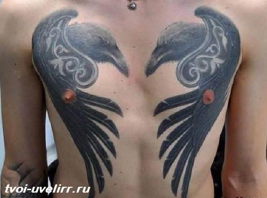 Тату-ворон-Значение-тату-ворон-Фото-тату-ворон-10