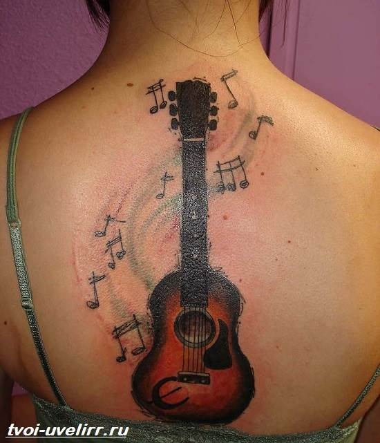 Тату-гитара-Значение-тату-гитара-Эскизы-и-фото-тату-гитара-11