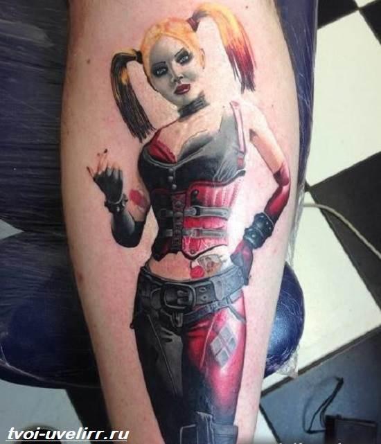 Татуировки на теле харли квинн фото