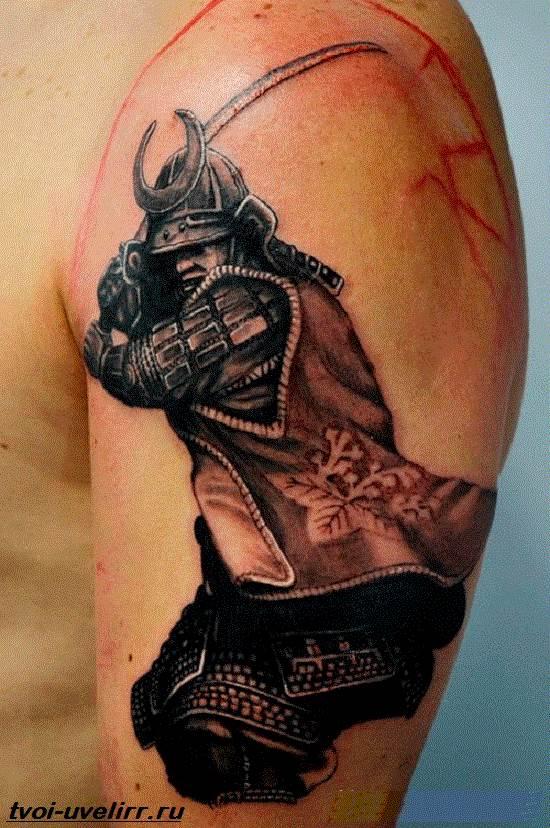 Тату-самурай-Значение-тату-самурай-Эскизы-и-фото-тату-самурай-3