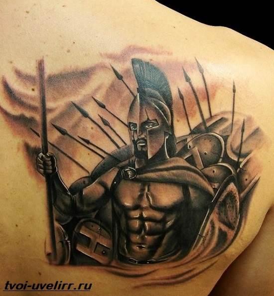 Тату-спартанец-Значение-тату-спартанец-Эскизы-и-фото-тату-спартанец-1