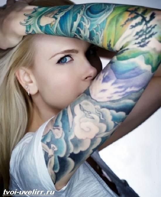 Цветные-тату-Значение-цветных-тату-Эскизы-и-фото-цветных-тату-11