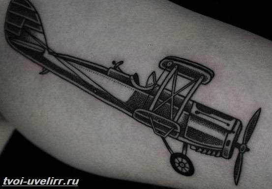 Тату-самолет-Значение-тату-самолет-Эскизы-и-фото-тату-самолет-2