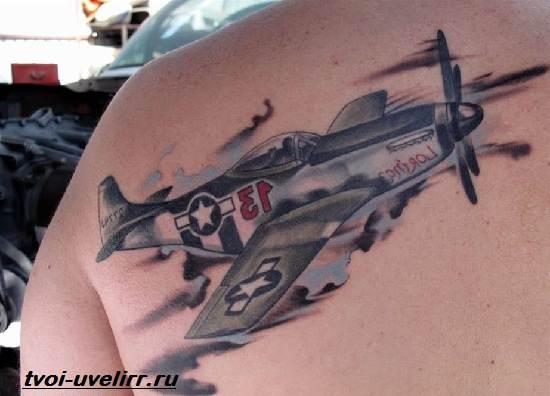 Тату-самолет-Значение-тату-самолет-Эскизы-и-фото-тату-самолет-4