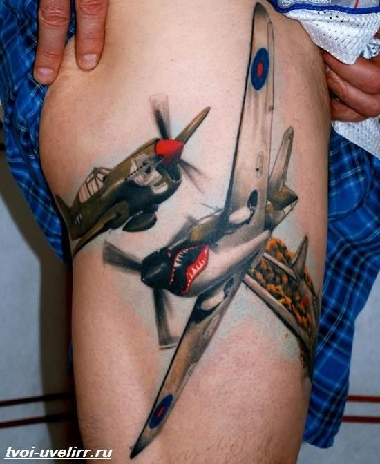 Тату-самолет-Значение-тату-самолет-Эскизы-и-фото-тату-самолет-6