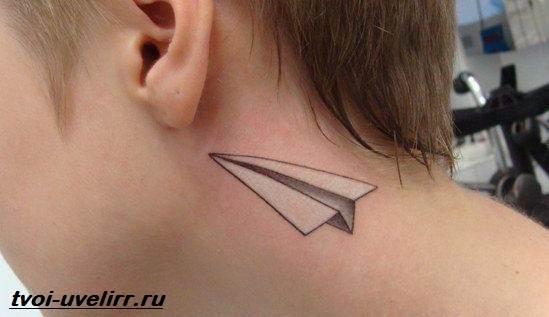 Тату-самолет-Значение-тату-самолет-Эскизы-и-фото-тату-самолет-8